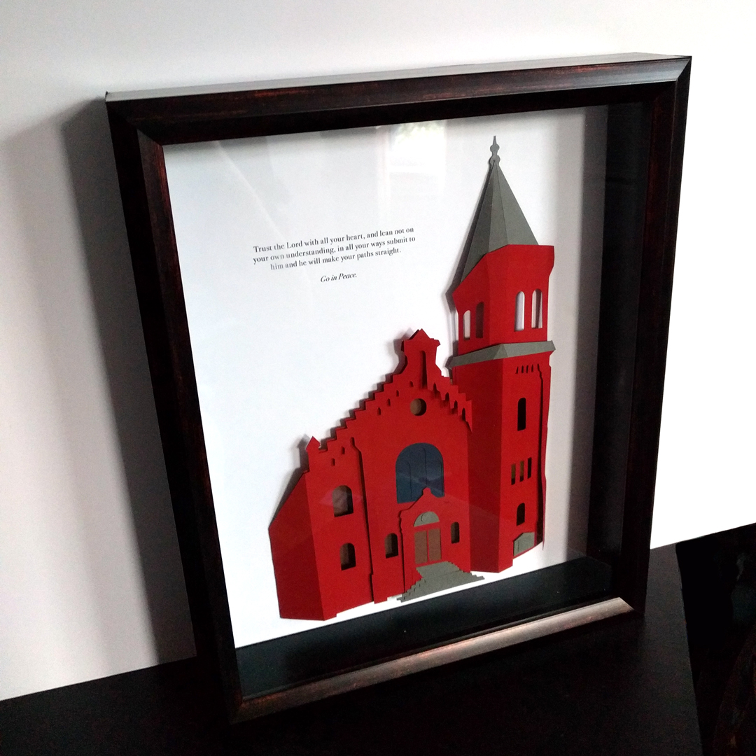 Custom Architectural Portrait: Church in Washington, DC