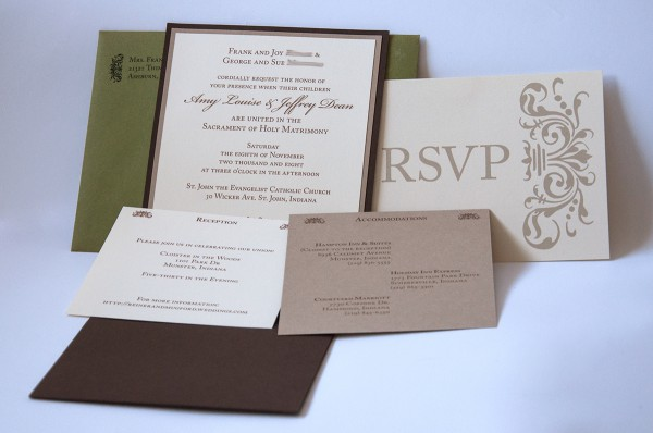 Full wedding invitation suite