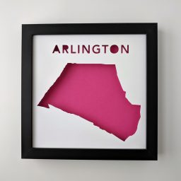 Framed map of Arlington, MA