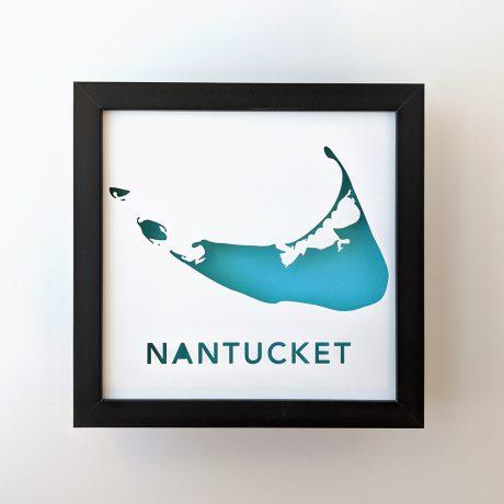 Framed map of Nantucket Island, Massachusetts