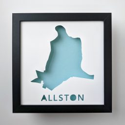 Map of Allston, neighborhood of Boston, MA