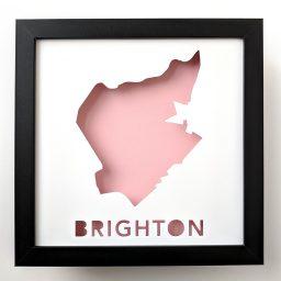 Map of Brighton, neighborhood of Boston, MA