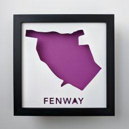 Map of the Fenway neighborhood of Boston, MA